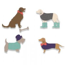 662592 - Sizzix Thinlits Die Set 10PK - Country Canines by Samantha Barnett